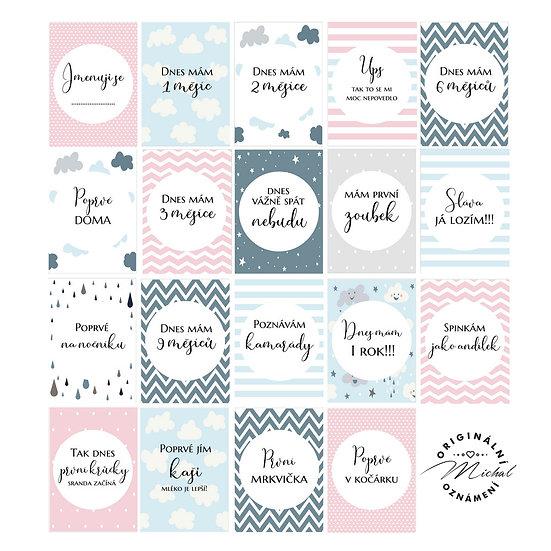 Milníkové kartičky holčička 3