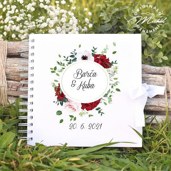 Svatební kniha hostů v pevných knižních deskách - 79