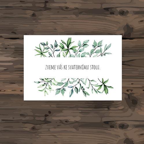 Pozvánka ke svatebnímu stolu - TYP 299