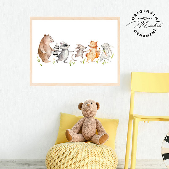 Plakát zvířátka a kamarádi
