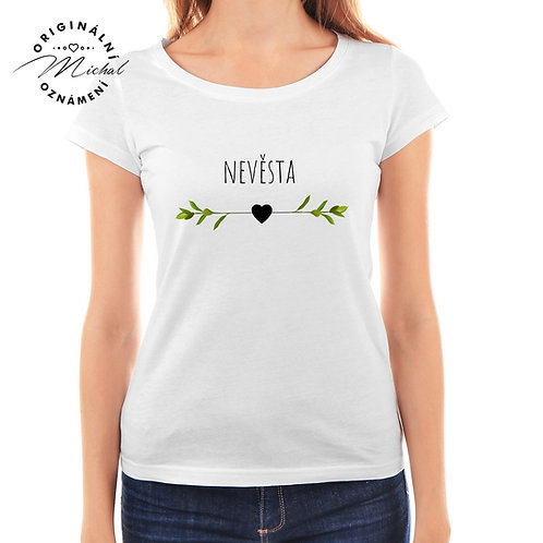 Svatební tričko s potiskem - D35