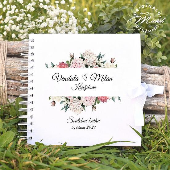 Svatební kniha hostů v pevných knižních deskách - 88