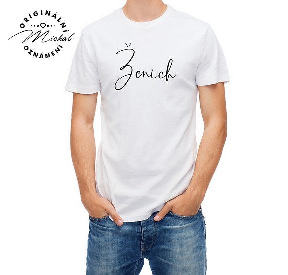Pánské svatební tričko s potiskem - P3