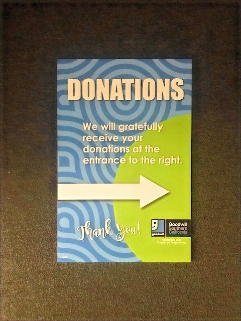 Donation Directional Signs