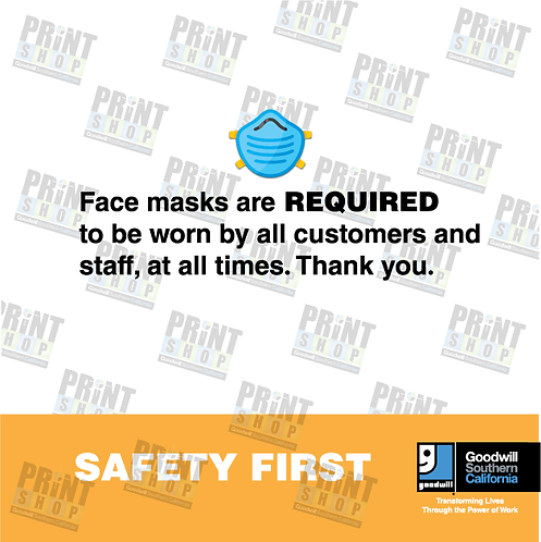 Rack Sign COVID For Your Safety Mask