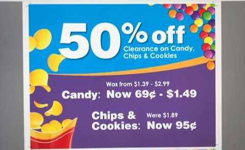 Chip & Candy Sale Sign