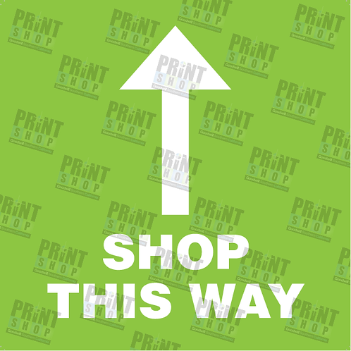 Decal COVID Shop This Way