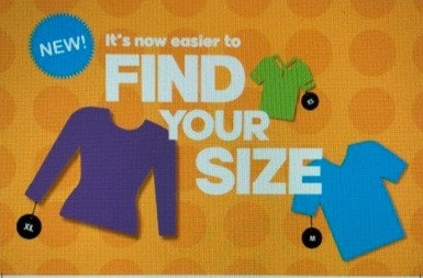 Find Your Size signs