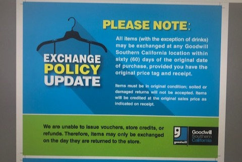 Exchange Policy Sign