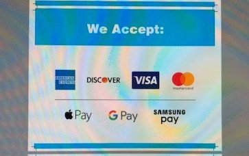 Payment Options Rack Sign