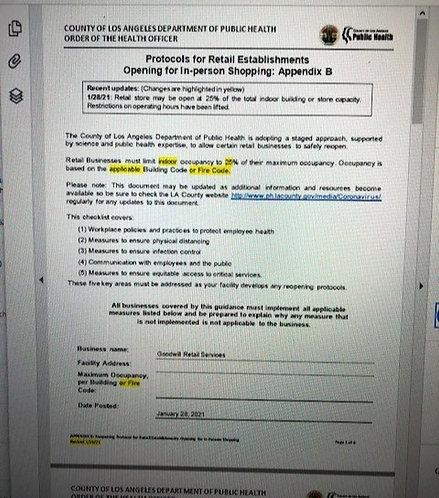 Reopening Protocols - LA County