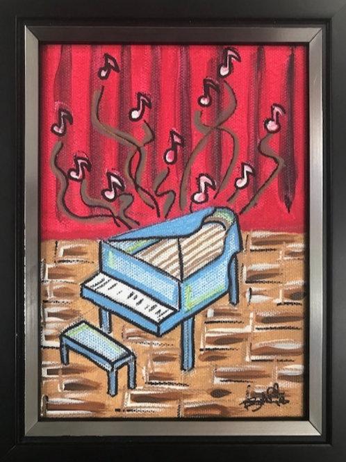 Mixed media on Canvas - Piano