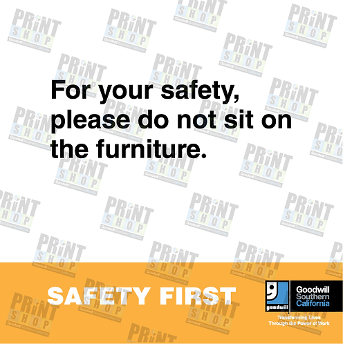 Rack Sign COVID Do Not Sit On Furniture