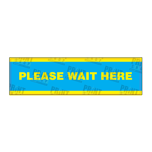 Decal COVID Wait Here