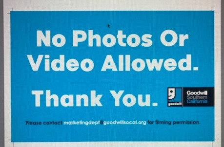 No Photos or Video Allowed