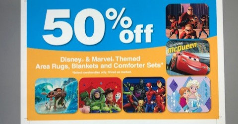 Disney product sale sign