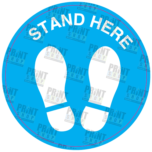 Decal COVID Stand Here