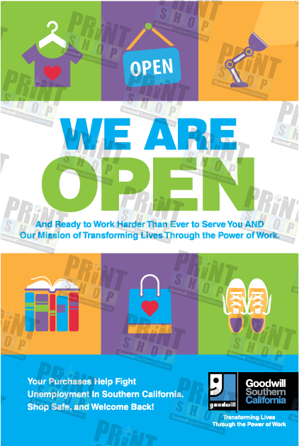 Poster We Are Open
