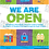Thumbnail: Poster We Are Open or We Are Closed