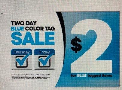 Color Tag Sale Signs ($2)
