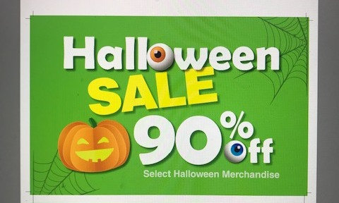 Sale Sign- Halloween 90%
