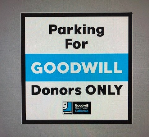 Parking for Donors only