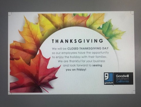 Thanksgiving Related Signs