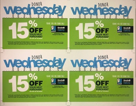 Donor Wednesday Coupon (200)