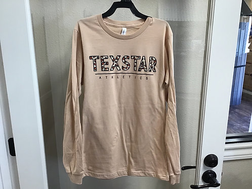 leopard long sleeve T-Shirt (light brown)
