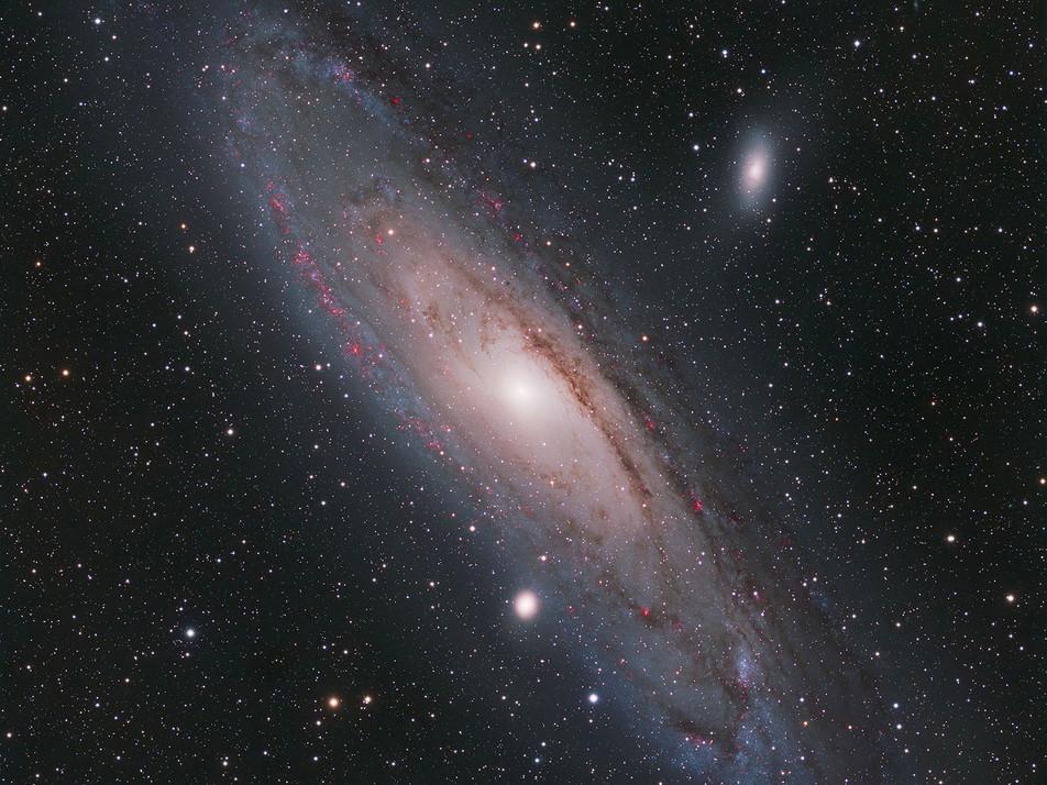 Galaxie d'Andromède M31. Auteur Frédéric Charfi