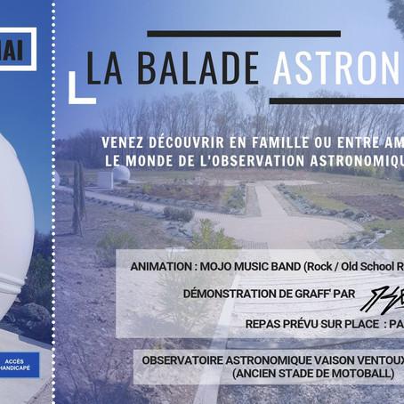 """Soirée publique """"La balade Astronomique"""""""