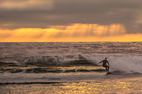 Surfer near Oceanside California