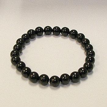 Tourmaline, black 8 mm bead bracelet