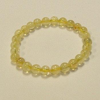 Citrine 8 MM bead bracelet
