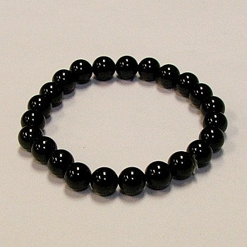 Onyx, Black 8 mm bead bracelet