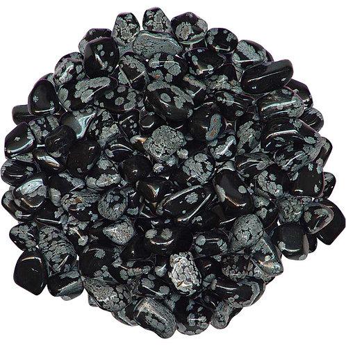 Obsidian, Snowflake tumbled stone