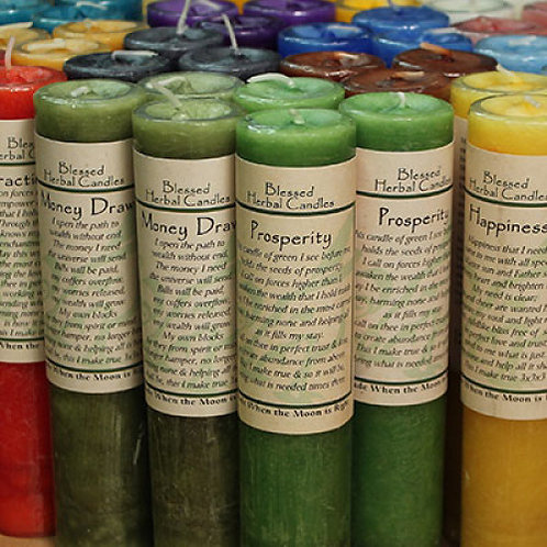 Blessed Herbal Pillar Candles