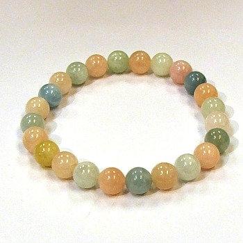 Morganite bead bracelet