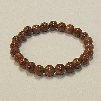 Goldstone 8 mm bead bracelet