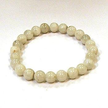 Moonstone, Blue Flash 8 mm bead bracelet