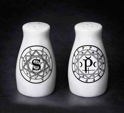 Sacred Geometry Salt & Pepper Shaker set