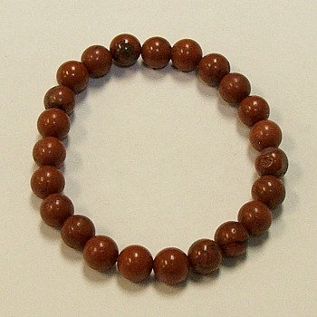 Red Jasper 8 mm bead bracelet