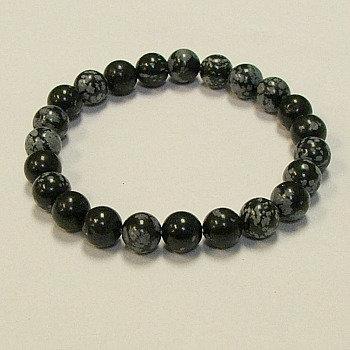 Obsidian, Snowflake bracelet