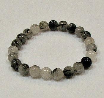Tourmalated Quartz  stone bracelet