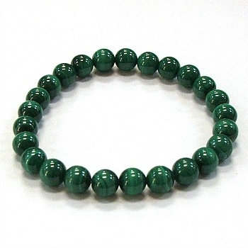 Malachite 8 mm bead bracelet