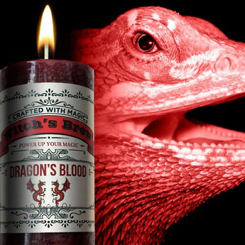 Dragon's Blood Pillar Candle