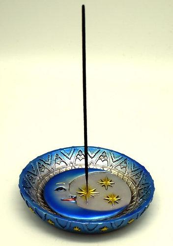 Moon & stars incense burner