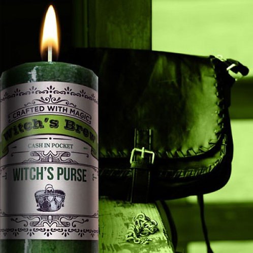 Witch's Purse Pillar Candle