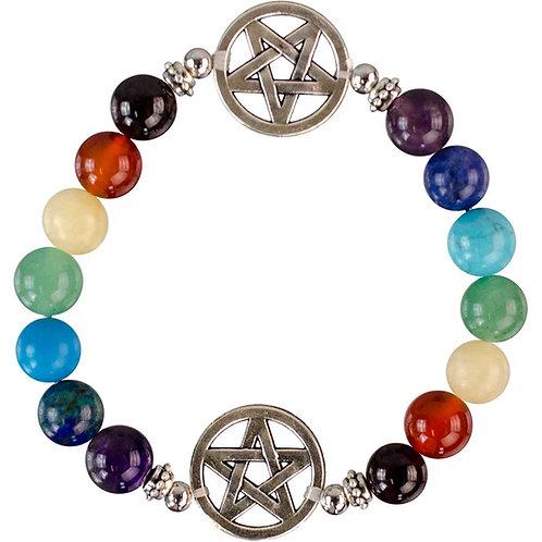 Pentacle Chakra Bracelet