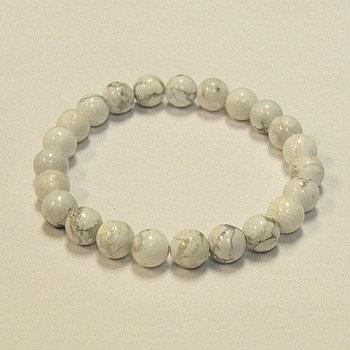 Howlite 8 MM stone bracelet